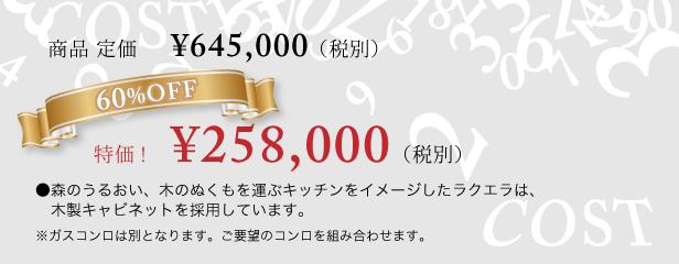 特価 258,00円